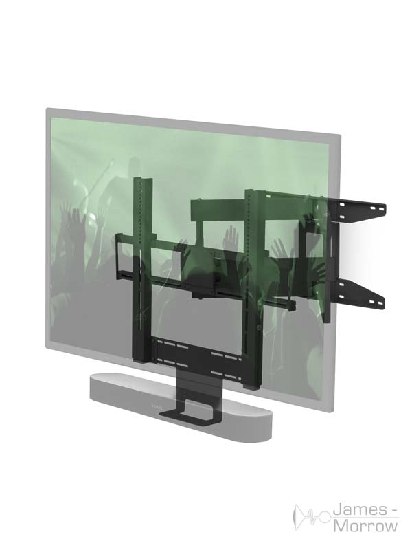 flexson cantilever bracket for playbar and beam transparent profile product image