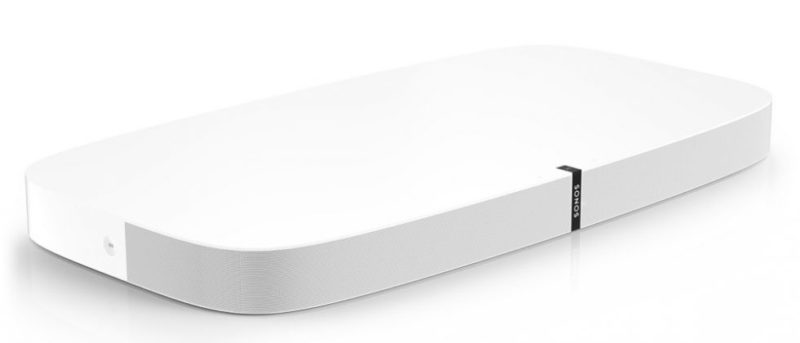 sonos playbase white front elevated side product image