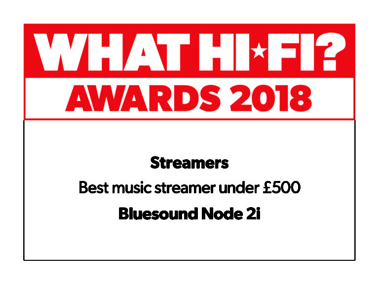 what-hifi awards 2018 best streamer bluesound icon