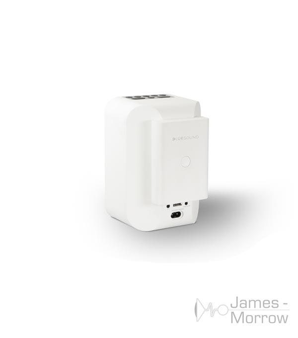bluesound bp100 white attached to white flex 2i product image