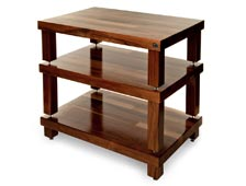 Hifi racks walnut stained podium stand front side product image menu image