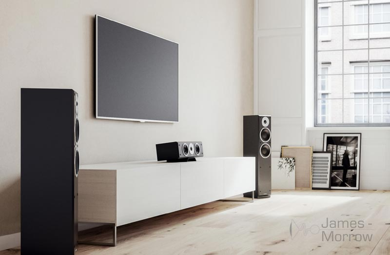 Dynaudio Emit Speakers in cinema setup lifestyle image