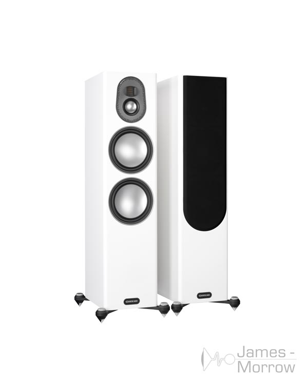 Monitor audio gold 300 pair white profile product image