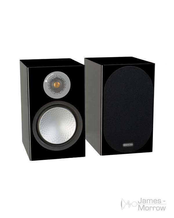 monitor audio silver 100 black gloss pair profile product image
