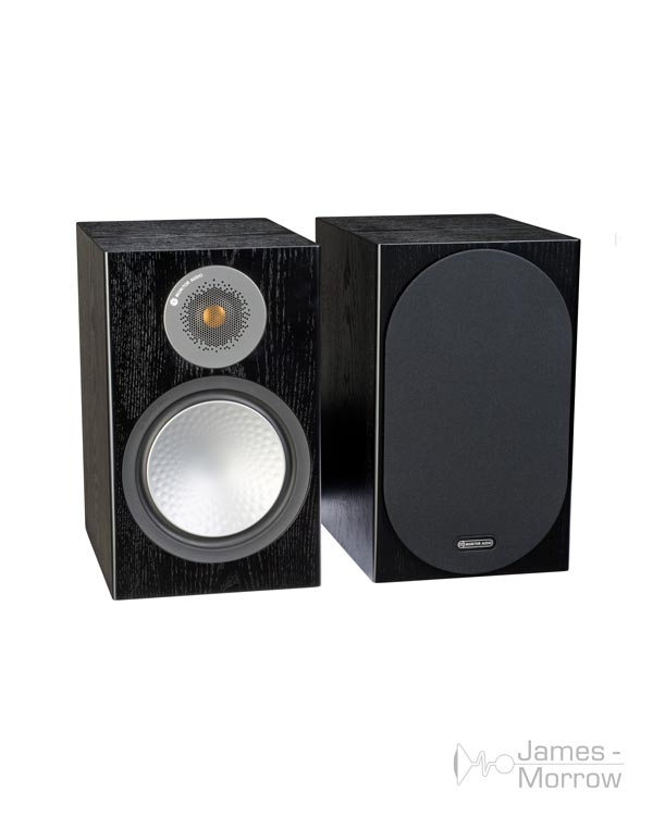 monitor audio silver 100 black oak pair profile product image