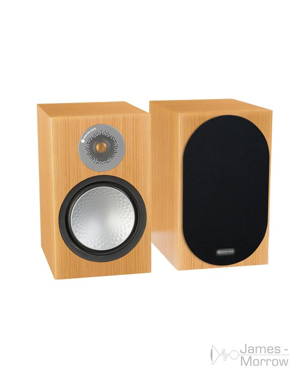 monitor audio silver 100 natural oak pair profile product image