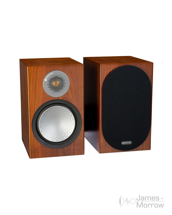 monitor audio silver 100 walnut pair profile product image