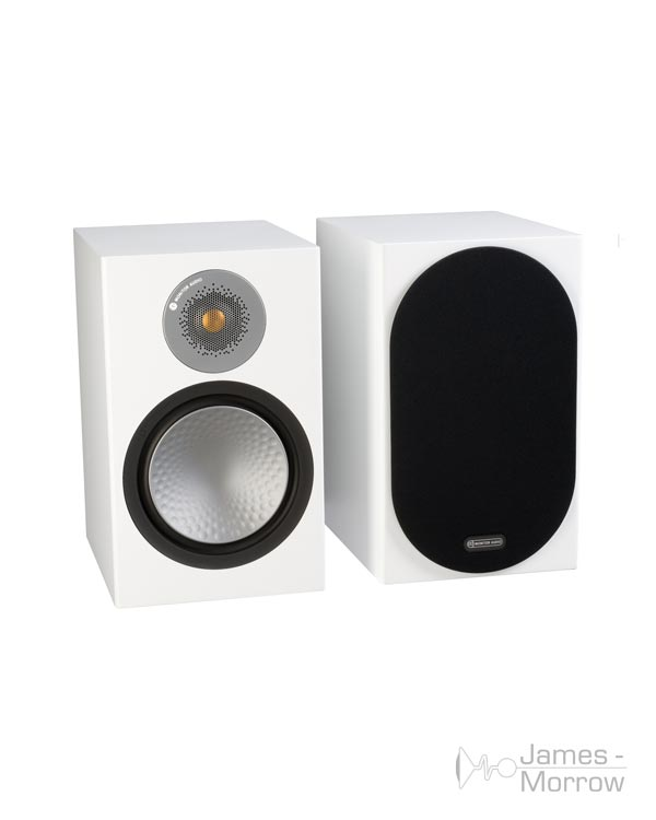 monitor audio silver 100 white pair profile product image