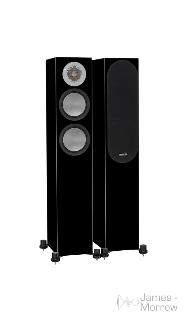 monitor audio silver 200 gloss black pair profile product image