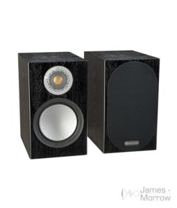 monitor audio silver 50 black oak pair profile product image