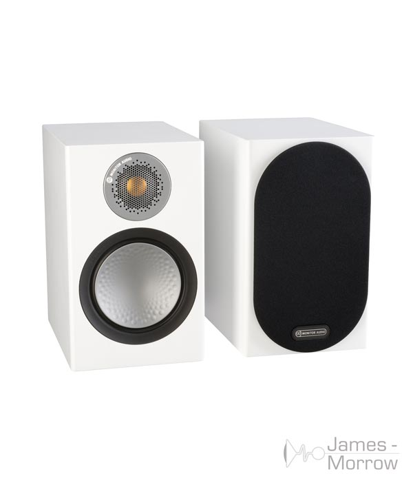 monitor audio silver 50 white pair profile product image