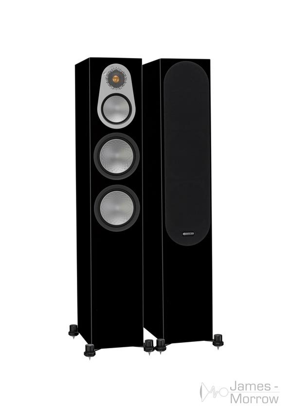 monitor audio silver 300 black gloss pair profile product image