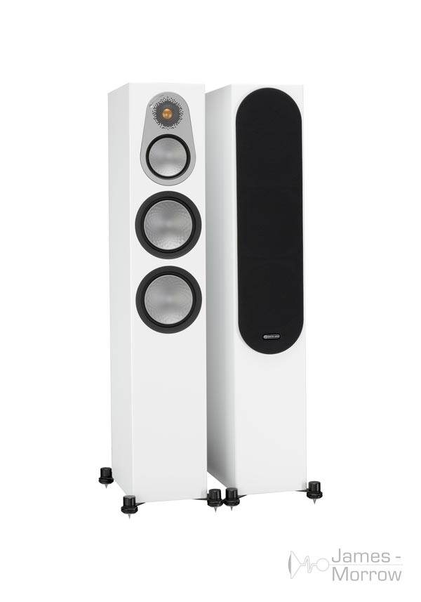 monitor audio silver 300 white pair profile product image