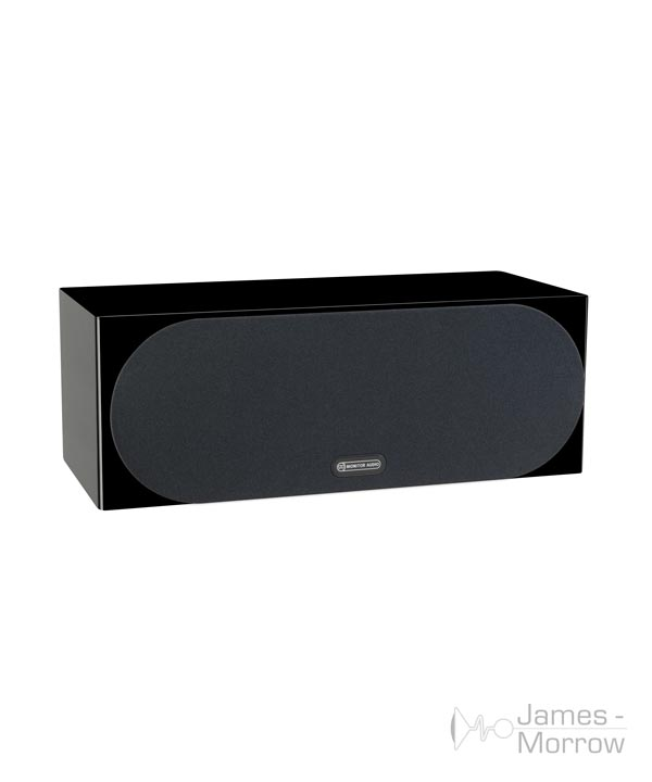 monitor audio silver c150 gloss black profile product image with grill