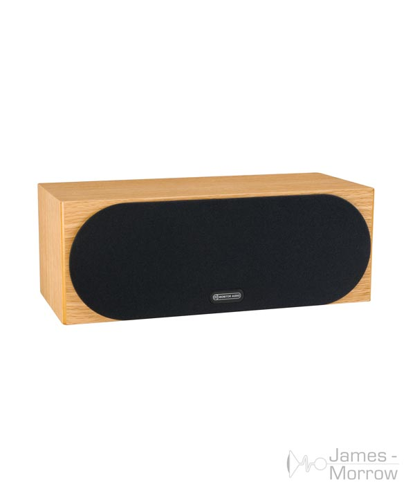 monitor audio silver c150 natural oak profile product image with grill