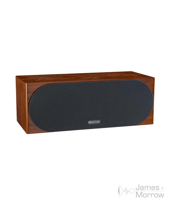 monitor audio silver c150 walnut profile product image with grill