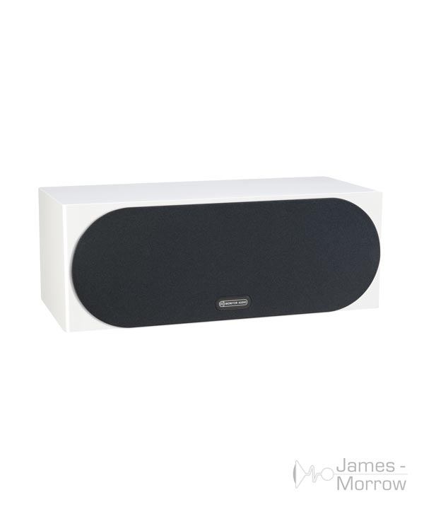 monitor audio silver c150 white profile product image with grill