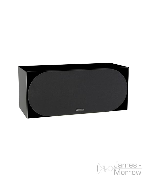 monitor audio silver c350 gloss black profile product image with grill