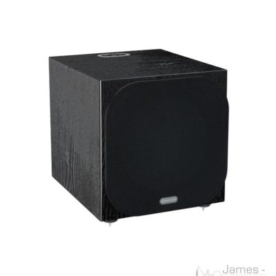 monitor audio silver w-12 black oak profile product image with grill