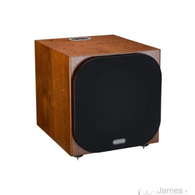 monitor audio silver w-12 walnut profile product image with grill