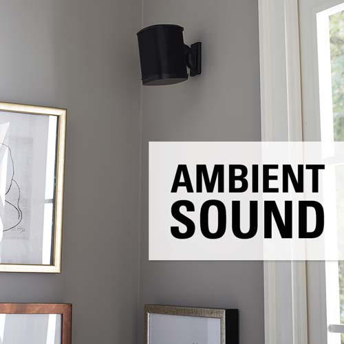 sanus wswm21 black ambient sound label in living room lifestyle image