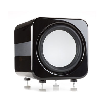 monitor audio apex AW12 black subwoofer front side product image
