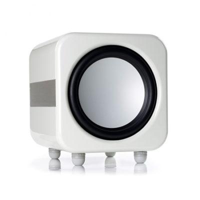 monitor audio apex AW12 white subwoofer front side product image