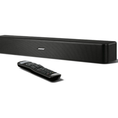 Bose Solo 5 soundbar front with remote product image