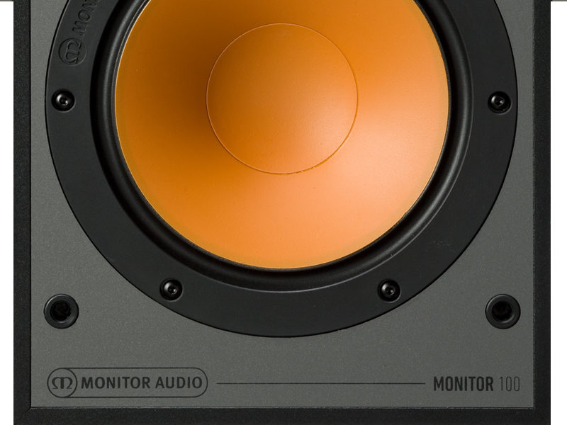 Monitor Audio 100 black front close-up product image