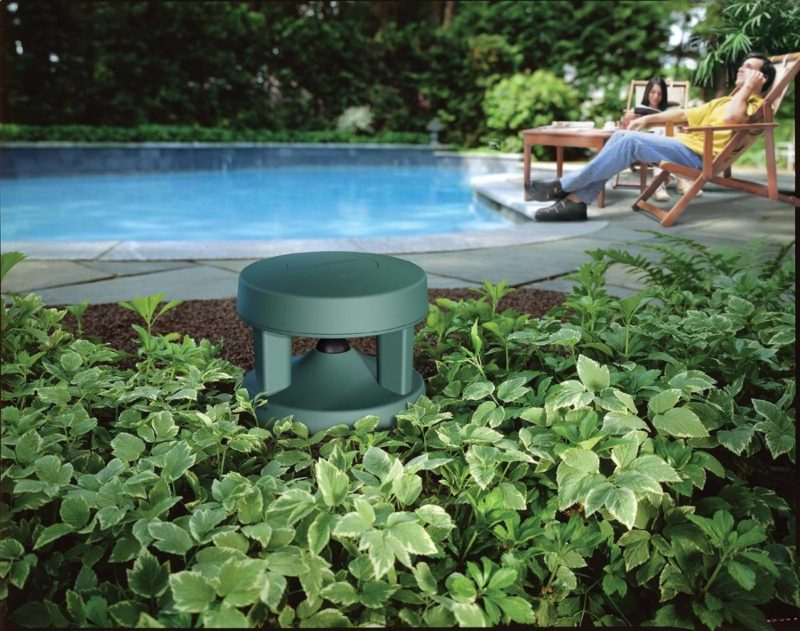 BOse environment outdoor subwoofer planted in ground outside