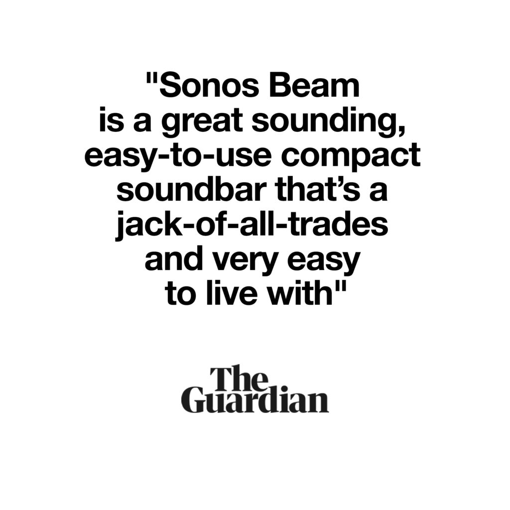 Guardian Review Quote for Sonos Beam