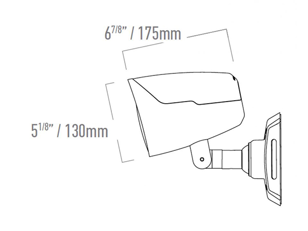 Monitor Audio CLG160 side diagram product image