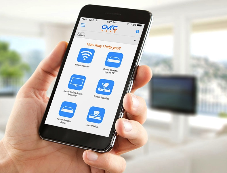 OVRC Home app being shown on smartphone