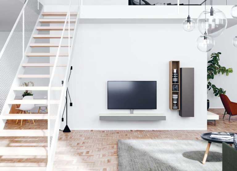 Spectral Next Music Board stand lifestyle image in contemporary living room