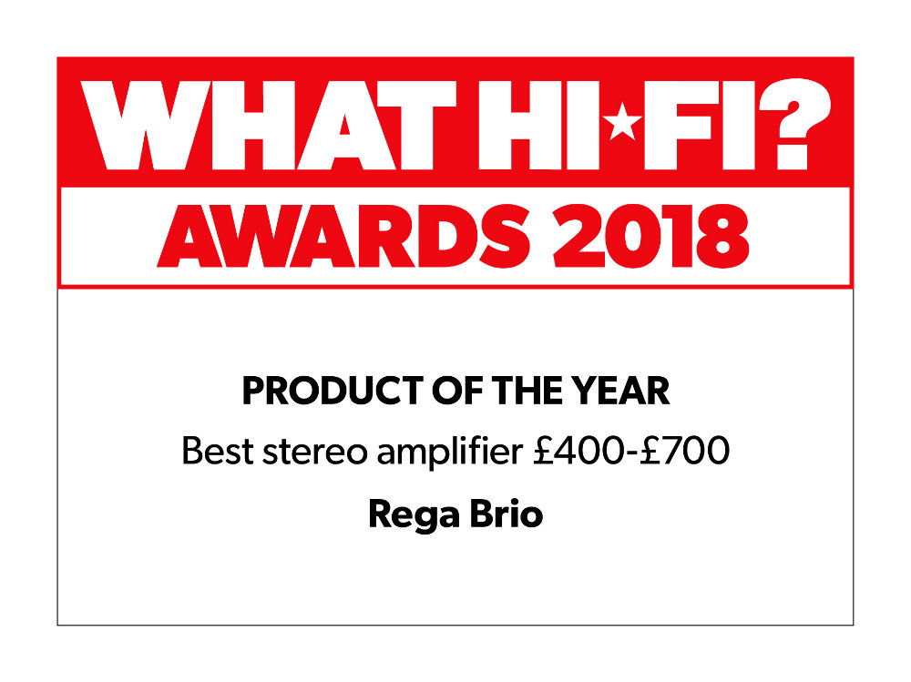 what hifi 2018 reward rega brio icon