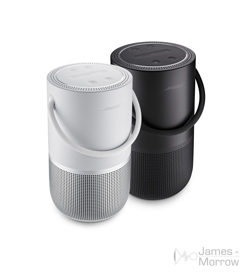 bose portable home speaker black and sivler pair product image