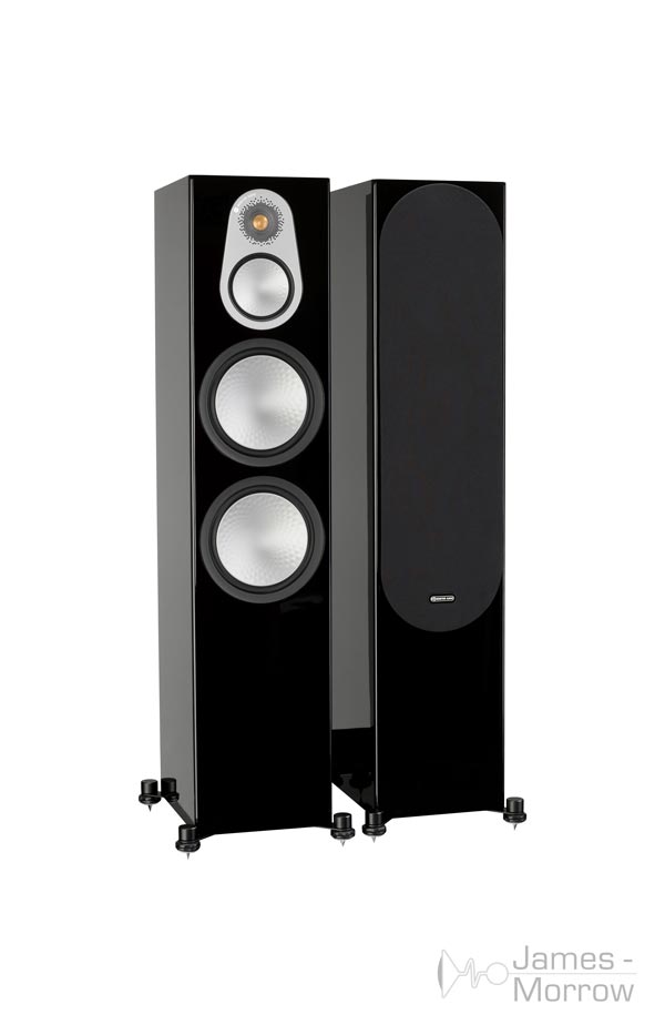 monitor audio silver 500 pair gloss black profile product image