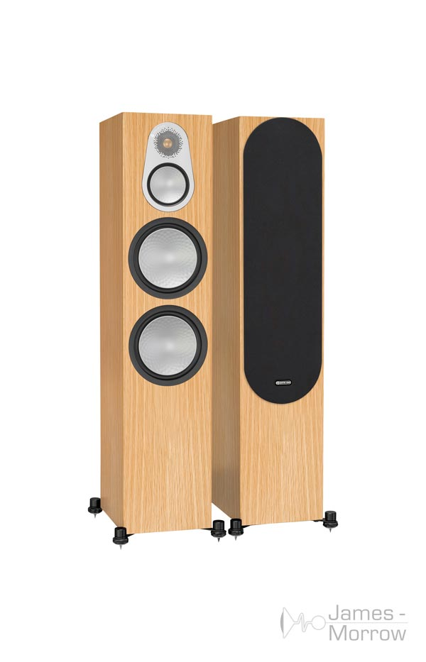 monitor audio silver 500 pair natural oak profile product image