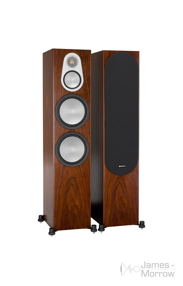 monitor audio silver 500 pair walnut profile product image