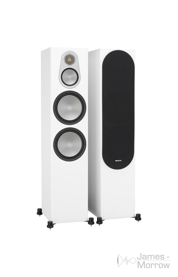 monitor audio silver 500 pair white profile product image