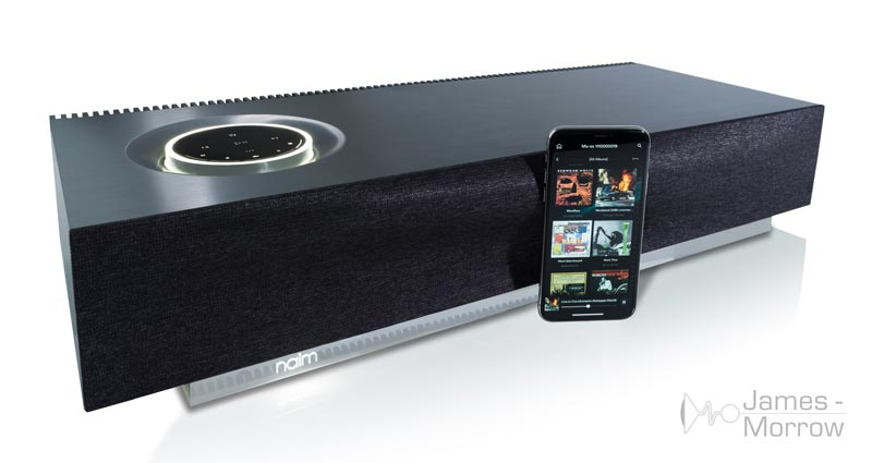 Naim Mu-so 2nd Gen Front Angle with Phone