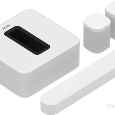 Sonos Beam white, two sl and sub bundle product image