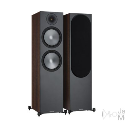Monitor Audio Bronze 500 walnut front side product image