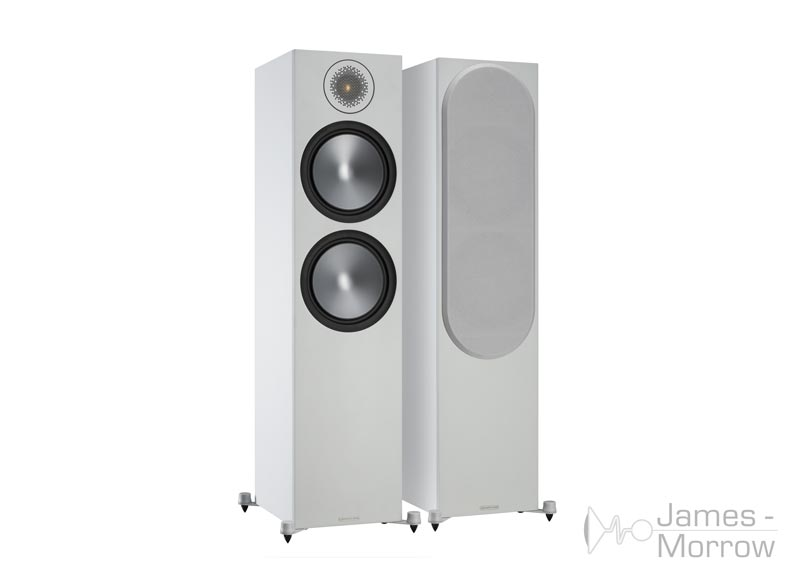 Monitor Audio Bronze 500 white front side product image