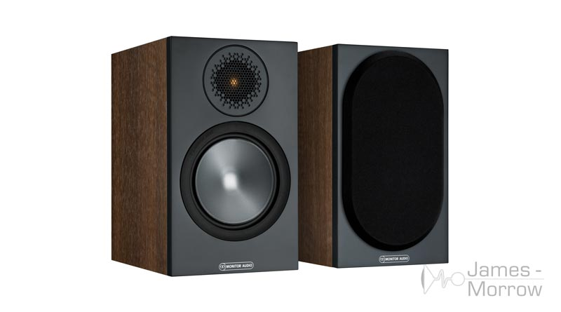 Monitor Audio Bronze 50 walnut front side product image