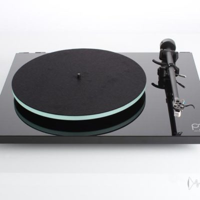 rega planar 2 black front elevated product image