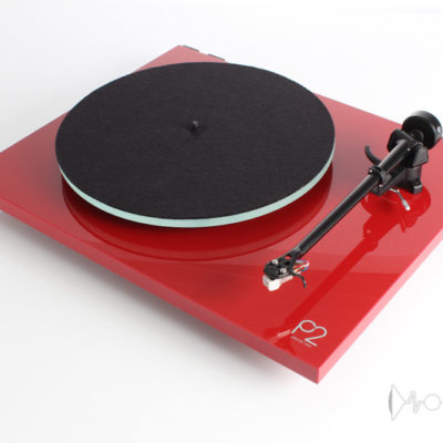 rega planar 2 red front side elevated product image