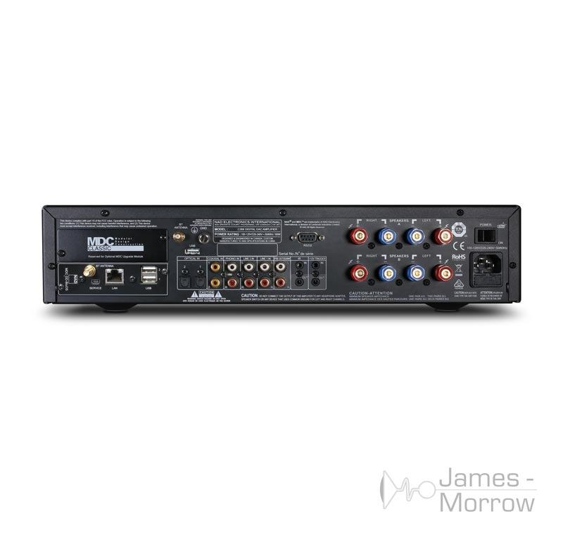 NAD C 368 amplfiier with MDC module back product image