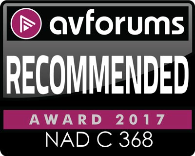 NAD C 368 AV Forums recommended award 2017 review icon