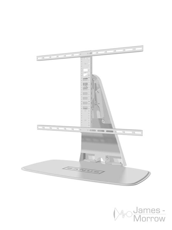 sanus swivel tv stand for playbase white profile product image